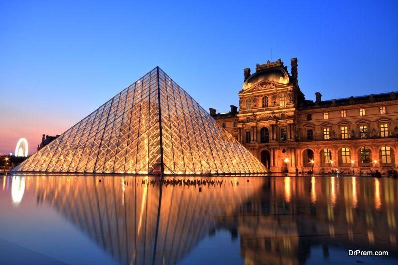 Louvre Museum at Sunset, Paris