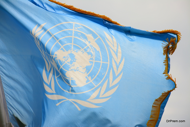 United Nations flag,