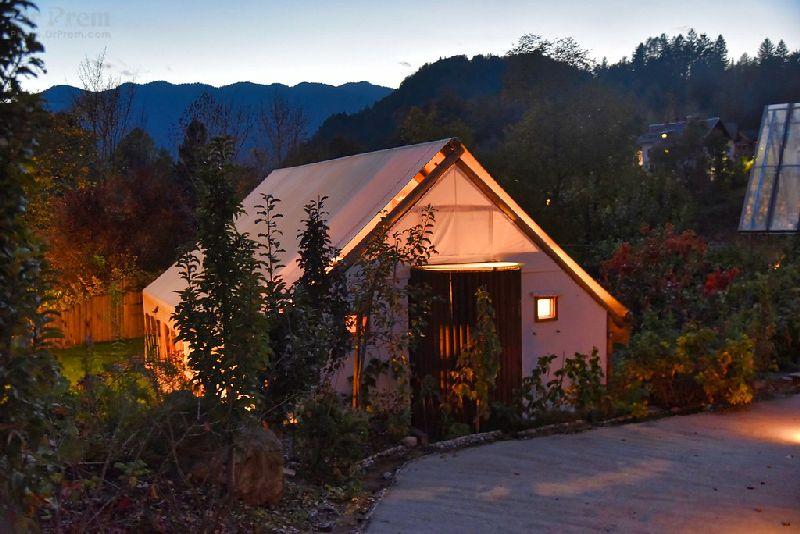 Glamping in Garden Village
