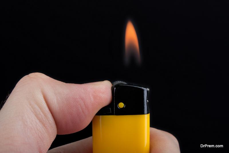 Never light a lighter