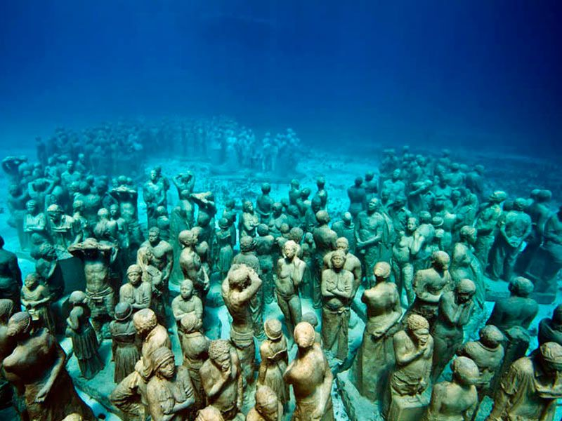 The Cancun Underwater Museum in Mexico