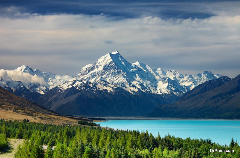 Lake Pukaki, Mount Cook,New Zealand