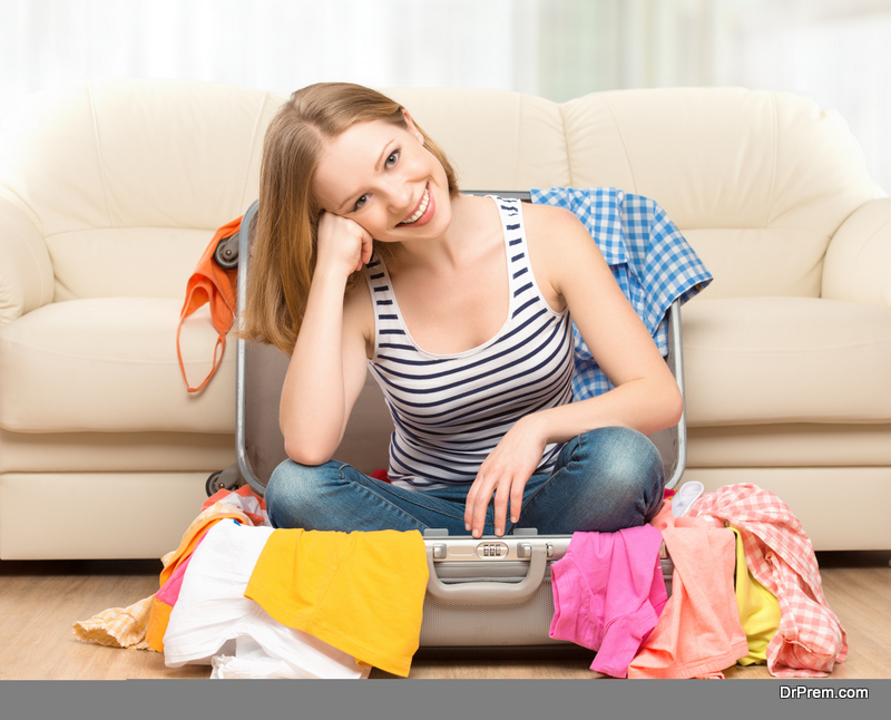 woman getting ready to travel