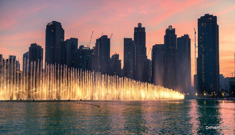Dancing Fountains in Dubai, UAE