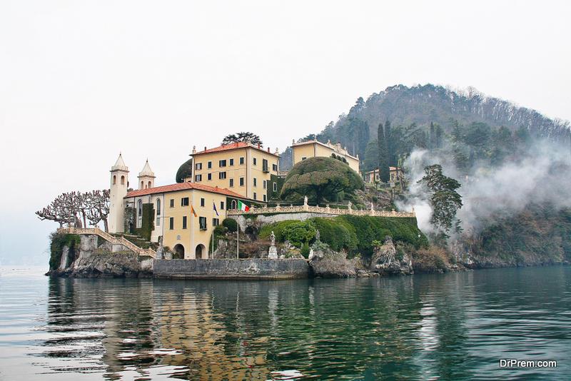 Villa del Balbianello at Lake Como, Como, Italy, Lombardia region