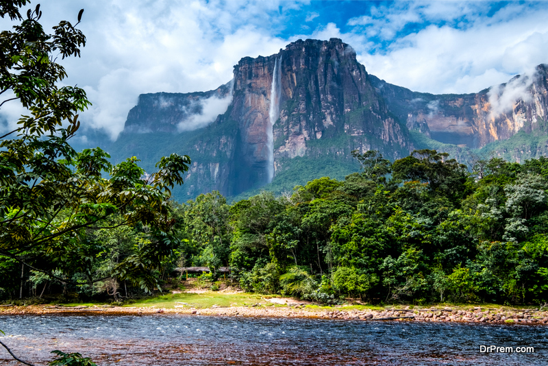 Angel Falls from the river bank