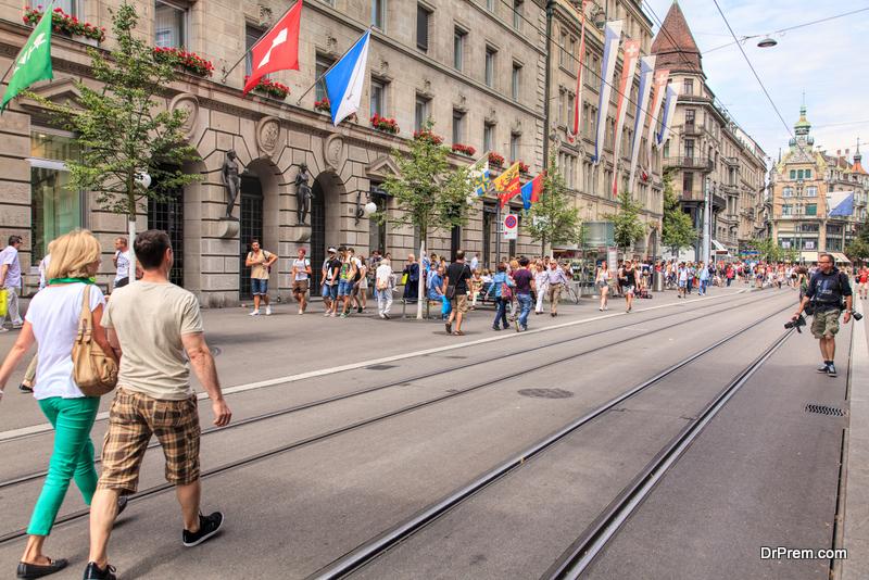 Bahnhofstrasse street in Zurich, Switzerland