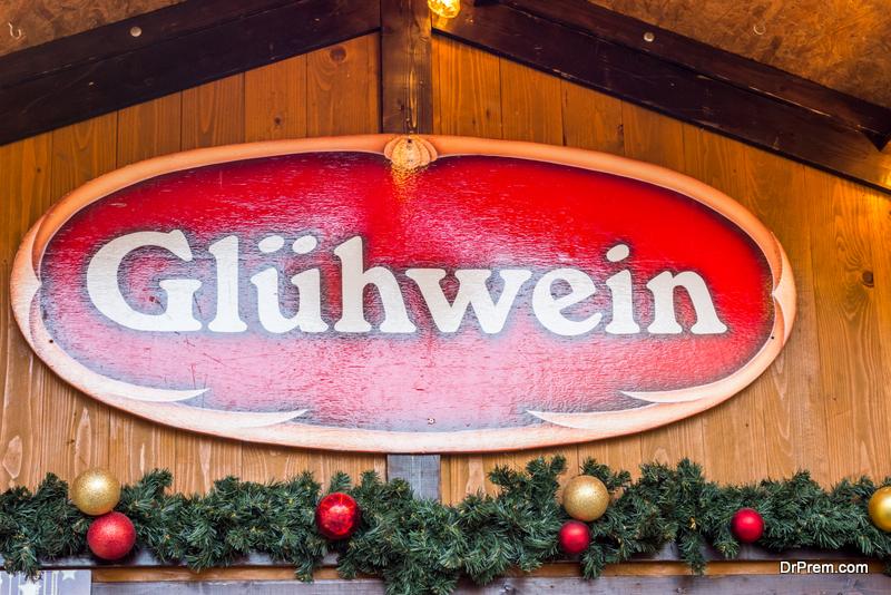 Gluehwein on offer