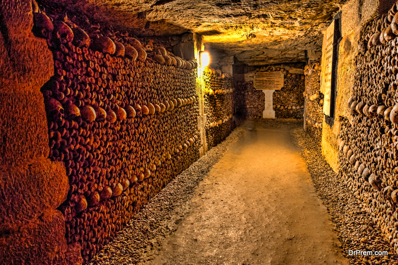 Experience the shivering chill in catacombs