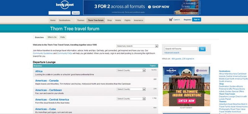 Lonely Planet Thorn Tree Travel Forum