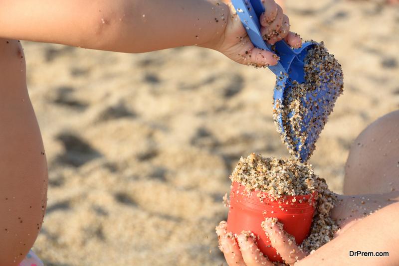 Sand stealing tourist