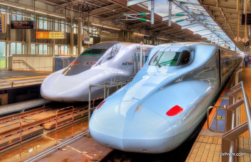 Mount Fuji – Tokaido Shinkansen line