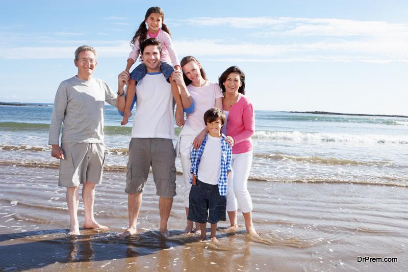 family enjoying weekend