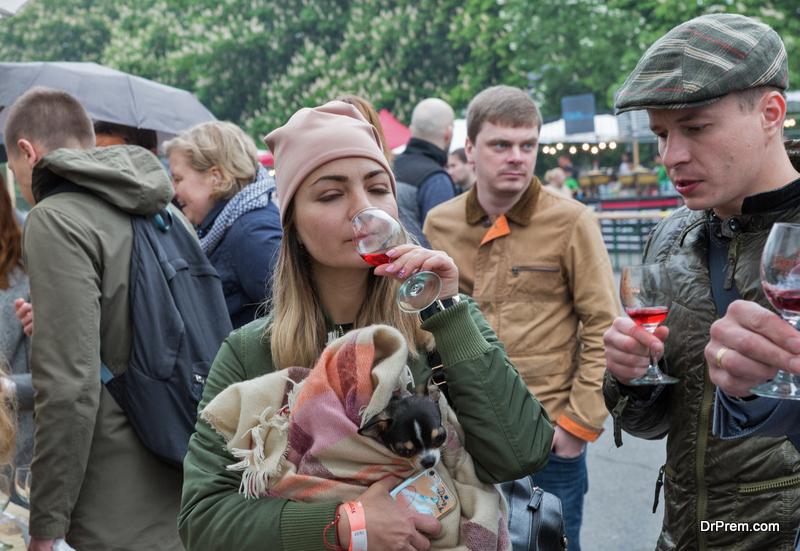Rheinhessen, Wein market Mainz wine festival, Germany