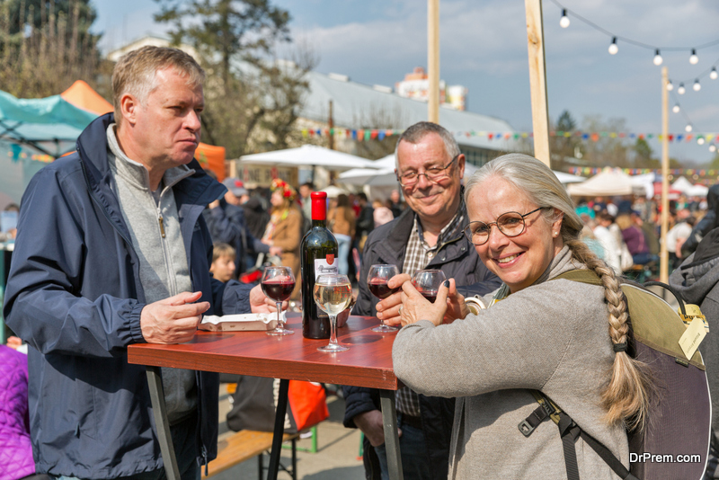 Wine festival, Groningen, Holland