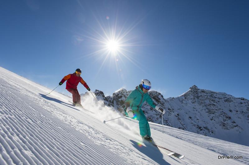 terrain skiing