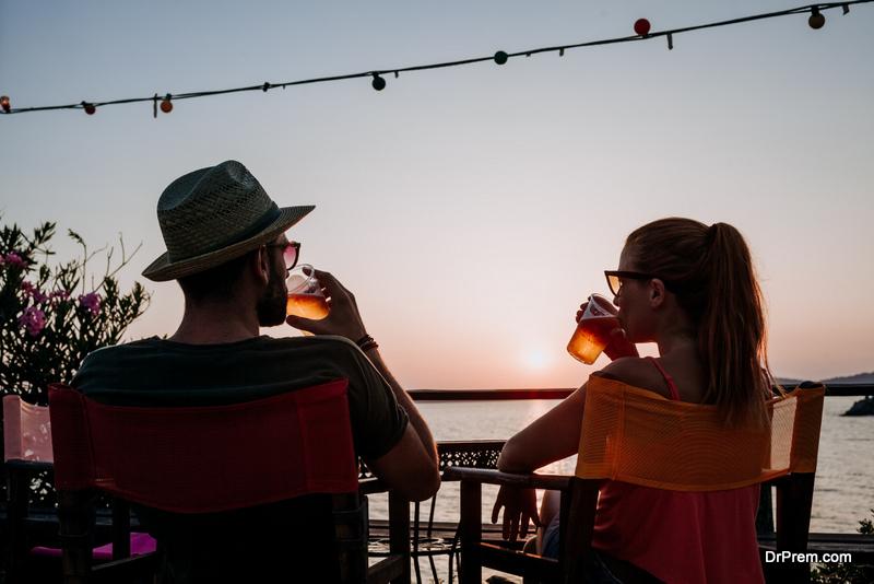 Sunset watching at Foxy's Tavern