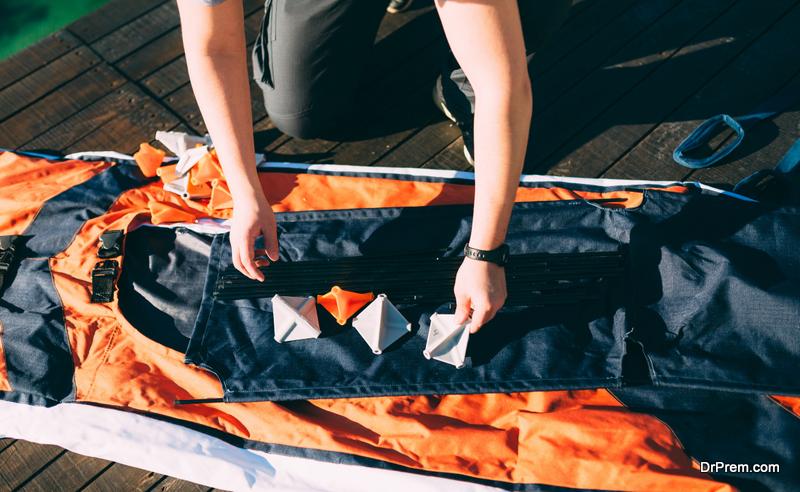 Assembling the kayak